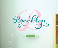 Nursery Name Wall Decals by Monogram Decal Name Wall Decal Wall Decals Nursery