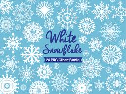 snowflake clipart white snowflakes by design bundles