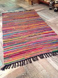 Round Wool Rugs Uk by Fab Multi Coloured Shabby Chic Braided Cotton U0026 Jute Rag Rug