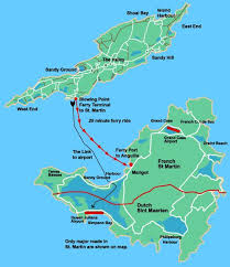 map of st martin maps of anguilla and neighboring st martin maps of