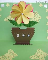 cards crafts kids projects flat folding heart punch flower tutorial