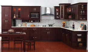 Espresso Painted Kitchen Cabinets White Subway Tile Backplash Pattern And Espresso Cabinet