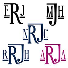 last name monogram keg design family monograms