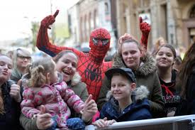in pictures thousands turn out for newport christmas lights