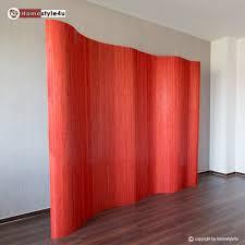 raumteiler 150 cm hoch paravent raumteiler trennwand bambus 200x250 rot holz
