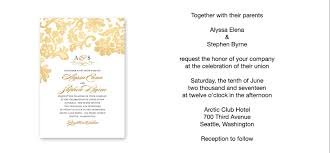wedding programs wording sles wedding invitation wording exles cloveranddot