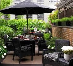 Small Outdoor Patio Furniture Decorating Small Outdoor Patio With Umbrella Design Ideas Using