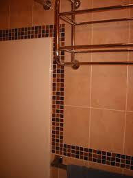 Bathroom Shower Tile Repair Color Glass Mosaic Tiles Along The Bathtub Border All About