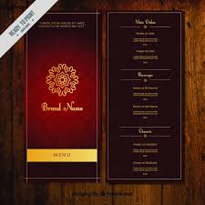 5 course menu template menu vectors photos and psd files free