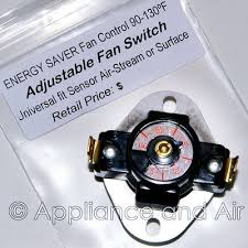 adjustable fan limit switch fan blower low limit switch information