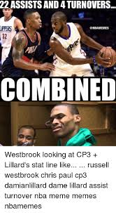Chris Paul Memes - 22 assists and 4turnovers ippers combined westbrook looking at cp3