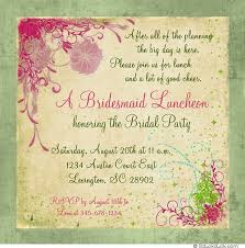 bridal luncheon wording bridesmaid luncheon invitation bridal party floral vine