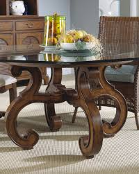 rattan dining room sets curving brown wooden legs with round glass top feat rattan dining