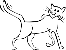 cat and kitten clipart black and white clipartxtras