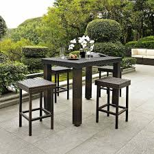 Modern Garden Table And Chairs 5 Piece Outdoor Wicker High Dining Set Modern Garden And Table