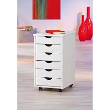 caisson de bureau sur roulettes caisson blanc en bois massif sur roulettes avec 6 tiroirs achat