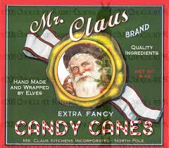 antique christmas candy vintage christmas santa candy label