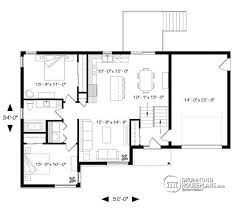 split entry home plans house plan w3323 big detail from drummondhouseplans com