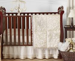 Design Crib Bedding Chagne And Ivory Baby Bedding 11pc Crib Set By Sweet
