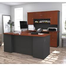U Shape Desk Bestar Ridgeley U Shaped Desk Hayneedle