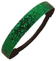 green headband glitter headband glittery sparkle sports headbands at kenzlaurenz
