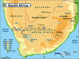 africa map elevation south africa continent elevation digital map from maps