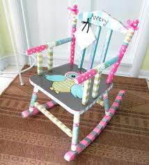 painted child rocking chair personalized child chair baby shower gift custom child chair