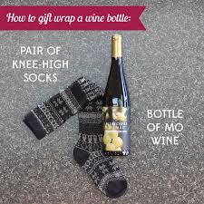 gift wrapping wine bottles a great gift wrapped in a gift all you need is a pair of knee