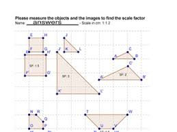 scale factor worksheet dilations scale factor worksheet math