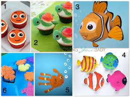 finding nemo themed crafts snacks growing baby