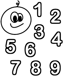 chiffres numbers coloring pages coloring for kids