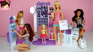 196 Best Barbie Dream House Barbie Sisters Shopping Routine At Claires Chelsea Gets Her Ears