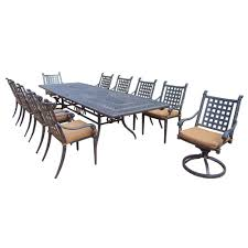 Aluminum Dining Room Chairs Hanover Traditions 9 Piece Aluminum Outdoor Dining Set With