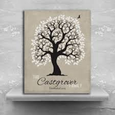 10 year anniversary gift for 10 year anniversary personalized family tree ten year