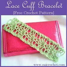 free bracelet pattern images Lace cuff bracelet free crochet pattern oui crochet free png