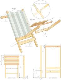 folding beach chair woodworking plans wood plans