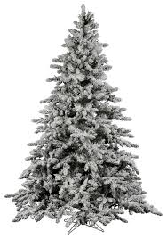 flocked utica fir tree traditional trees by