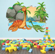 dinosaur wall decal 3d smashed dinosaurs wall art kids bedroom dinosaur wall decal 3d smashed dinosaurs wall art kids bedroom dinosaur wall mural removable vinyl wall