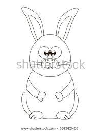 vector illustration bunny rabbit cartoon coloring stock vector