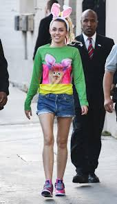 miley cyrus wears bunny ears and matching shirt in l a instyle com