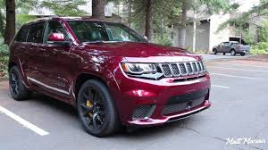 pink jeep grand cherokee sound jeep grand cherokee trackhawk youtube