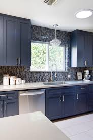 Kitchen Craft Cabinet Sizes Photos Hgtv Contemporary White Kitchen Featuring Blue Cabinets And
