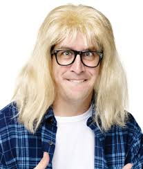 halloween wigs for men snl saturday night live wayne u0027s world garth wig with glasses