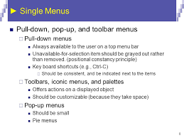 Pop A Top Bar Menu Selection Form Fillin And Dialog Boxes Ppt Video Online