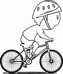 boy on bike coloring page wecoloringpage coloring home