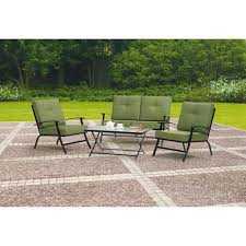 Folding Patio Table And Chair Set Mainstays Patterson Heights 4 Peice Folding Patio Conversation Set