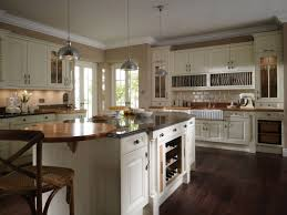 white kitchen colors wide transparent window brown marble island