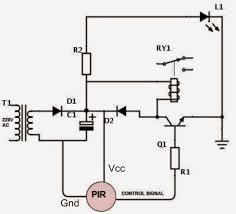 pir motion detector circuit using a single transistor