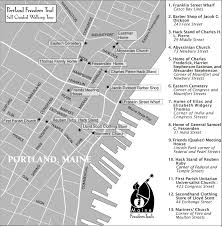 Portland Maine Map by Portland Freedom Trail Sign Posts To The Past Heritage In Maine