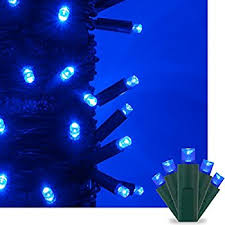 blue christmas lights christmas light set blue 100 mini
